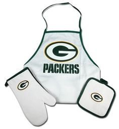 Green Bay Packers Grilling Apron Set
