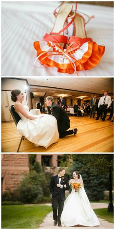 Real Weddings | Heather's University of Tennessee Volunteers wedding garter. View all the details on my blog!