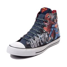 Shop for Converse All Star Hi Superman Sneaker in Superman at Journeys Shoes. Shop today for the hottest brands in mens shoes and womens shoes at Journeys.com.The Man of Steel returns in classic high-top flying form as Converse teams up with DC Comics to bring you this exclusive edition Superman All Star Hi! Available only at Journeys, this heroic sneaker features Superman graphics and text and awesome Metropolis skyline artwork. Superman logo print lace closure with matching logo print ...