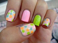 Cute nail art using Lime Crime nail polishes!