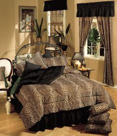 Leopard theme room :)  Comforter I Am Getting