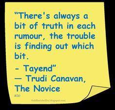♥ @Trudi Canavan ♥ ~ #BookQuote #Rumors