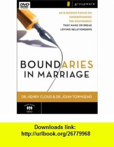 Boundaries in Marriage An 8-Session Focus on Understanding the Boundaries That Make or Break a Marriage [DVD] (0025986278137) Henry Cloud, John Townsend , ISBN-10: 0310278139  , ISBN-13: 978-0310278139 ,  , tutorials , pdf , ebook , torrent , downloads , rapidshare , filesonic , hotfile , megaupload , fileserve