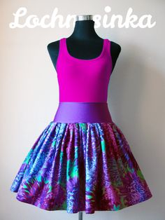 Sukýnka NESSIE DOT kolová no.14 chryzantémy Tie Dye Skirt, Skater Skirt, Bloom, Dots, Skirts, Fashion, Stitches, Moda, Skirt