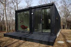 gorgeous double, black, sleek modern interior