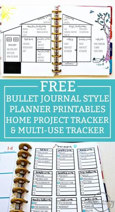 Bullet Journal Printables from Mom Envy. House projects bullet journal printable and a free task sheet printable. Available in size, Standard letter size, and Happy Planners. Home Planner, Project Planner, Blog Planner, Planner Pages, Happy Planner, Printable Planner, Planner Ideas, 2015 Planner, Planner Journal