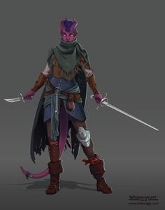 """f Tiefling Rogue Thief Leather Armor Sword Dagger undercity urban City slums river coastal farmland Mau Nowhere,"""" by Allie Briggs. Character art for DnD Tiefling Rogue. Tiefling Rogue, Tiefling Female, Tiefling Bard, Dungeons And Dragons Characters, D D Characters, Fantasy Characters, Fantasy Character Design, Character Design Inspiration, Character Art"""