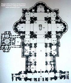 mappa della basilica di san pietro (città del vaticano)