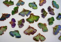Gingko Leaf Pendants | by Debbie Anderson of athousandcanes.blogspot.com