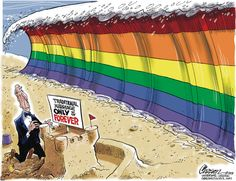 Wave of Marriage Equality by editorial cartoonist Stuart Carlson, March 28, 2013