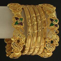 Gold Tone Wedding Bridal Bangle @ Indiatrend For $18.99USD