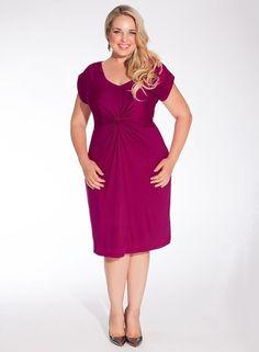 Igigi Dress Plus Size 3X 22 24 Purple Lilah Style Ruched Cap Sleeve #Igigi #Ruched #Casual