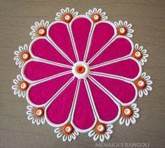 Easy Rangoli Designs Videos, Rangoli Designs Simple Diwali, Simple Rangoli Border Designs, Rangoli Designs Latest, Rangoli Designs Flower, Free Hand Rangoli Design, Small Rangoli Design, Rangoli Ideas, Rangoli Designs With Dots