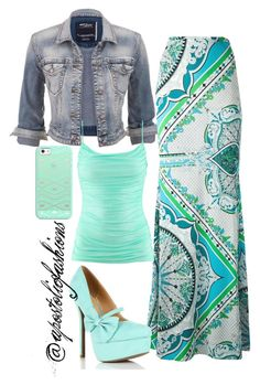 """""""Apostolic Fashions #891"""" by apostolicfashions ❤ liked on Polyvore featuring maurices, Emilio Pucci, H&M and Casetify"""