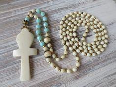 Charm- & Bettelketten - Edle Hippie-Bettelkette, Anch, ägypt. Lebenskreuz - ein Designerstück von weibsbild bei DaWanda