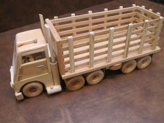 Your place to buy and sell all things handmade Wooden Toy Cars, Wooden Truck, Wood Toys, Woodworking Workshop, Easy Woodworking Projects, Wood Projects, Farm Trucks, Handmade Wooden, Bird Houses