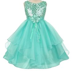 Looking for AkiDress Sequined Bodice Gorgeous Organza Dress Little Girl ? Check out our picks for the AkiDress Sequined Bodice Gorgeous Organza Dress Little Girl from the popular stores - all in one. Princess Flower Girl Dresses, Cheap Flower Girl Dresses, Tulle Flower Girl, Wedding Dresses For Girls, Wedding Bridesmaid Dresses, Little Girl Dresses, Girls Dresses, Dress Wedding, Special Dresses