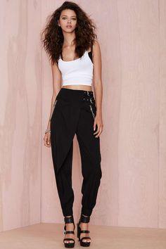 Nasty Gal Covert Desire Pant - Black | Shop Pants at Nasty Gal