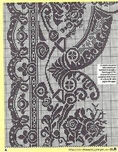 Kira scheme crochet: Scheme crochet no. Crochet Chart, Knit Or Crochet, Filet Crochet, Crochet Motif, Crochet Stitches, Embroidery Stitches, Embroidery Patterns, Knitting Patterns, Crochet Patterns