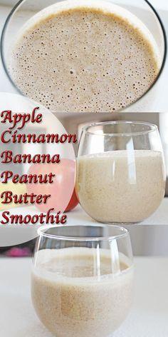 Apple Cinnamon Banana Peanut Butter Smoothie