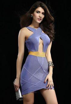 Robes Bandage New Style Lilac & Or Keyhole Robe