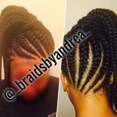 Large Ghana Braids, Ponytail - Home Feed In Braids Ponytail, Under Braids, French Braid Ponytail, Loose French Braids, Braids With Curls, Cool Braids, Ghana Braids Hairstyles, Fishtail Braid Hairstyles, Loose Hairstyles