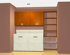 Laundry room shelving system