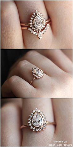 19edf815f Top quality moissanite engagement rings #moissaniteengagementrings Pear Wedding  Ring, Wedding Ring Pics, Gold