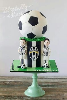 Soccer cake - Blissfully Sweet