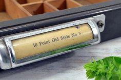 Industrial Green Letterpress Drawer  letterpress by OldTimePickers