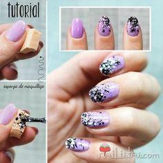Nail Graffiti #purple #lilacnails #nailart #nails #polish #mani - Share/explore more nail looks at bellashoot.com!