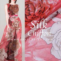 DIY Gown Dress Fabric. Silk Chiffon by fabricAsians