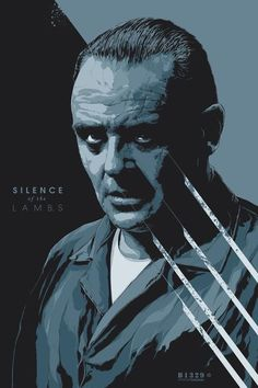 Silence of the Lambs--i know i already have representation of this movie, but it is so wonderful that i might as well add another