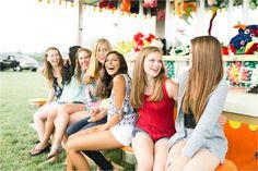 Central Pennsylvania Senior Photographer Brianna Wilbur photographed senior girls at local, fun, colorful carnival Fair Photography, Group Pictures, High School Seniors, Senior Photos, Wedding Portraits, Portrait Photographers, Pennsylvania, Carnival, Cute Outfits