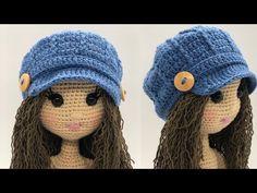 Accesorios Amigurumi | ¿Cómo hacer un sombrero escocés? - YouTube Crochet Doll Pattern, Crochet Dolls, Crochet Clothes, Crochet Baby, Crochet Patterns, Scottish Hat, Wie Macht Man, Amigurumi Tutorial, Crochet Needles