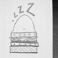 #inktober #04 by tjasa malalan #bear #bearillustration #sleepytime #sleepy #matresstower