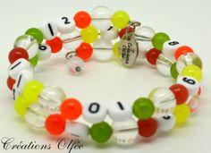 Bracelet d'allaitement OLFÉE  Tout en couleurs par CreationsOlfee, $20.00