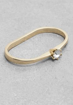 And Other Stories | Rhinestone Double Ring | Gold