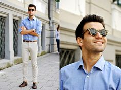 Get this look: http://lb.nu/look/7706828  More looks by Marc Galobardes: http://lb.nu/carrouselmc  Items in this look:  Han Kjobenhavn Sunglasses, Tailor4less Shirt, Zara Trousers   #classic #dapper #elegant #menstyle #menswear #fashionboy #fashionblogger #blogger #trendy