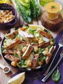 Az otthon ízei: Csirkés Cézár saláta Salad Dressing, Pasta Salad, Potato Salad, Nom Nom, Healthy Lifestyle, Food And Drink, Tasty, Healthy Recipes, Dinner