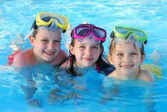 cute kids swimmers