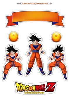 TOPO DE BOLO PARA IMPRIMIR: TOPO DE BOLO Goku Birthday, Ball Birthday, Dragon Z, Dragon Ball Gt, Anime Couples Manga, Cute Anime Couples, Anime Girls, Dbz, Dragonball Z Cake