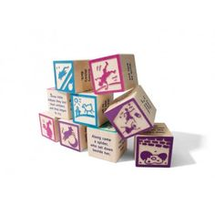 Buy Uncle Goose - Nursery Rhyme 9 Block Set at Mighty Ape Australia. An update of a classic set, these fun and memorable blocks help children to learn their nursery rhymes. They are perfect for . Nursery Rhymes, Nursery Decor, Themed Nursery, 9 Block, Stacking Blocks, Mother Goose, Baby Store, Wooden Blocks, Kids Nutrition