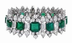 Emerald and Diamond Bracelet from Elizabeth Taylor collection