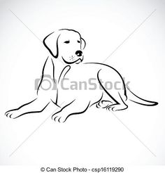 Vector image of an dog labrador - csp16119290