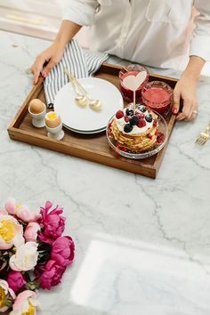 Valentine's breakfast in bed with Crate and Barrel | Photo by Meghan K. Sadler | 100 Layer Cake