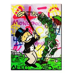 Wholesale cheap pure handicrafts art online, brand - Find best alec monopoly - golf - urban art handcraft abstract graffiti art oil painting,home wall decor on high quality canvas in custom sizes at discount prices from Chinese paintings supplier - supergallery_b on DHgate.com.
