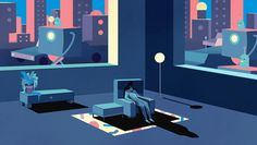 Illustrations by Rune Fisker | Inspiration Grid | Design Inspiration