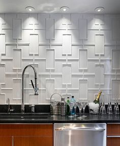 10 Funky Kitchen Backsplash Ideas Pics Funky Kitchen Backsplash Ideas – Amazing Ceramic Backsplash Tile Design What A Unique and Funky f Contemporary Kitchen Tiles, Modern Kitchen Wall Decor, Modern Kitchen Backsplash, Funky Kitchen, Kitchen Wall Tiles, Awesome Kitchen, Modern Wall, Diy Kitchen, Contemporary Art