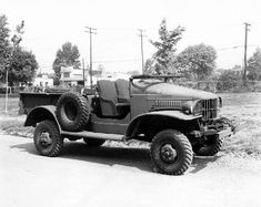 Dodge WC-4 Truck, Carrier, Weapons, Half Ton  Open Cab w winch,